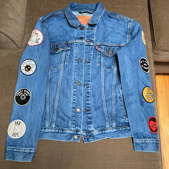 Levi Jean Jacket with patches